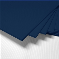 "24"" x 18"" Blank Corrugated Plastic Sheets - Navy Blue"