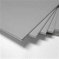 "24"" x 18"" Blank Corrugated Plastic Sheets - Silver"
