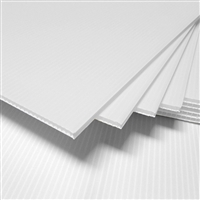 "24"" x 18"" Blank Corrugated Plastic Sheets - White"