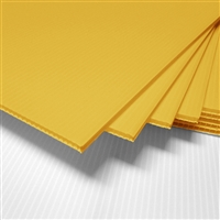 "24"" x 18"" Blank Corrugated Plastic Sheets - Yellow"
