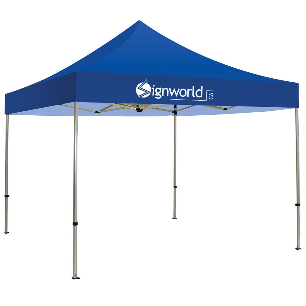 10 Foot Blue Outdoor Canopy Tent With Logo Print
