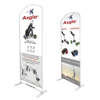 "38"" Curved Modular Display Double Sided Print"