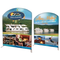 "78"" Curved Modular Display Double Sided Print"