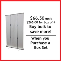 "Retractable Roll Up Banner Stand 57"" - Box Set [ 4 units/box]"