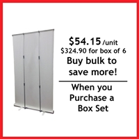 "Retractable Roll Up Banner Stand 45"" - Box Set [ 6 units/ box]"