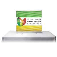 Table Top Retractable Roll Up Banner Stand 45'' with Vinyl Print