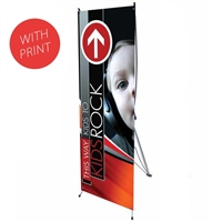 "24"" X Banner Stand with Vinyl Print"