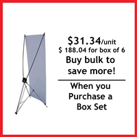 "Large X Banner Stand 48"" x 78"""