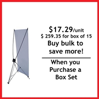 "Medium X Banner Stand 32"" x 72"" - Box Set [ 10 units/box ]"