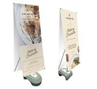"Double Sided Outdoor X Banner Stand Water Base with 24""x 57"" Vinyl Print"
