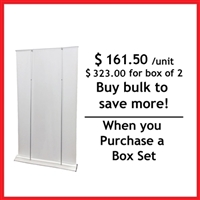 "HD Retractable Banner Stand 48"" - Box Set [ 2 units/ box ]"