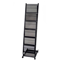Mobile Stand Magazine Rack - Medium