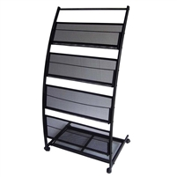 4-Shelf Mobile Stand Magazine Rack