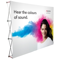 10 ft Fabric Pop Up Display with Fabric Print