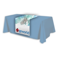 6ft x 3ft Polyester Fabric Table Runner with Full Colour Graphic