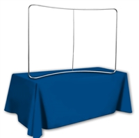 6 ft Table Top Curve Tube Display - Display Frame Only