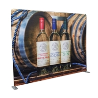 10 ft Straight Tube Display with Fabric Print