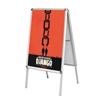A-Frame Snap-Open Sidewalk Poster Stand Easel