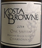 2014 Kosta Browne One Sixteen  Russian River valley Chardonnay  750ml