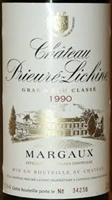 1990 Chateau Prieuré-Lichine Grand Cru, Margaux 750 ml