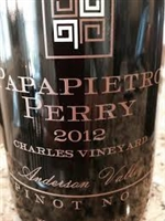 2012 Papapietro Perry Winery Pinot Noir Anderson Valley 'Charles Vineyard' 750ml