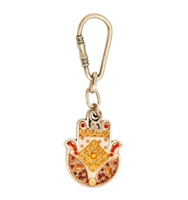 Oriental Hamsa Key Ring by Ester Shahaf