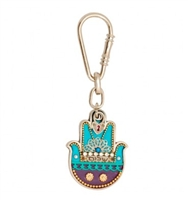 Shalom Hamsa Key Ring by Ester Shahaf