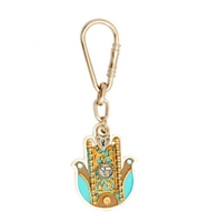 Chai Hamsa Key Ring by Ester Shahaf