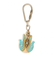 Light Blue Hamsa Key Ring by Ester Shahaf