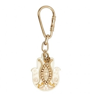 White Hamsa Key Ring by Ester Shahaf