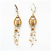 Golden Drop Silver Earrings
