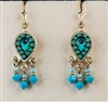 Turquoise Small Drop Silver Earrings