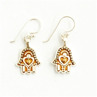 Golden Hamsa Earrings - Small - by Ester Shahaf