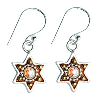 Bronze Star of David Earrings by Ester Shahaf