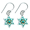 Flowers Star of David Earrings by Ester Shahaf