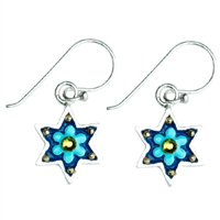 Flower Star of David Earrings by Ester Shahaf