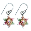 Colorful Star of David Earrings by Ester Shahaf