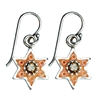 Orange Star of David Earrings by Ester Shahaf