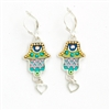 Colourful Hamsa Earrings - by Ester Shahaf