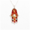 Red Hamsa Necklace by Ester Shahaf