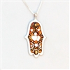 Gold & Hearts  Hamsa Necklace by Ester Shahaf