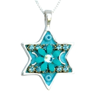 Star of David Necklace - Turquoise by Ester Shahaf