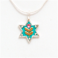 Wheat Branch Star of David Necklace - Small by Ester Shahaf