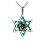 Star of David Necklace With Flower by Ester Shahaf