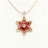 Pink Small Star of David Necklace by Ester Shahaf