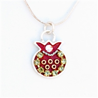 Red Pomegranate Necklace by Ester Shahaf