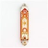 Orange Star of David Mezuzah Case by Ester Shahaf
