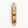 Green & Gold Mezuzah Case by Ester Shahaf