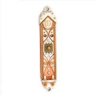 Bronze Mezuzah Case by Ester Shahaf