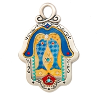 Hamsa Hand with Fish by Ester Shahaf
